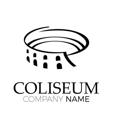 Vector abstraktes Kolosseum, Rom. Italienisches Symbol