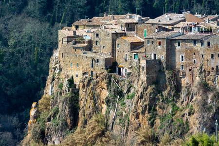 etrurian: Calcata, medieval italian village in Viterbo province, Lazio ,Italy