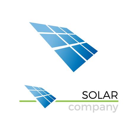 Vector el panel solar de la muestra, la energía verde y renovable