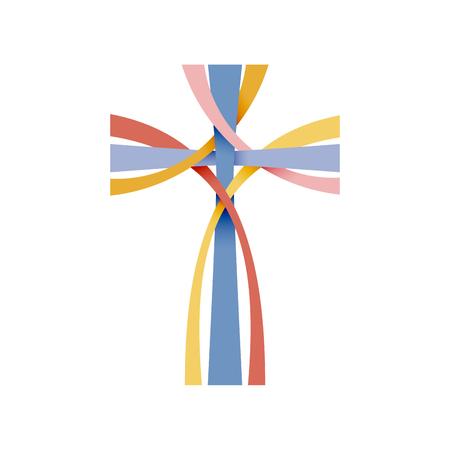 Vector abstract Christus kruisbeeld; Drie kruisen Stock Illustratie