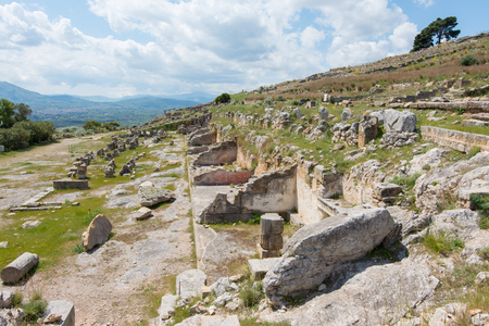 archaeological sites: archaeological area of Solunto,near Palermo, in Sicily.
