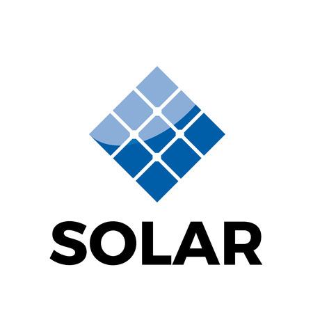 Vector el panel solar de la muestra, la energía verde y renovable Ilustración de vector