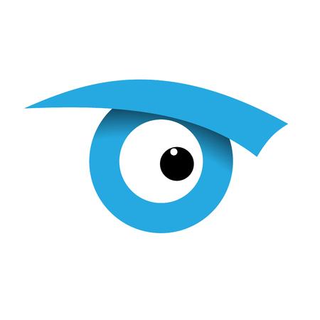 brow: Vector sign eye, iris Illustration