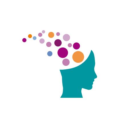 mentalist: Vector sign mentalist, head with balls