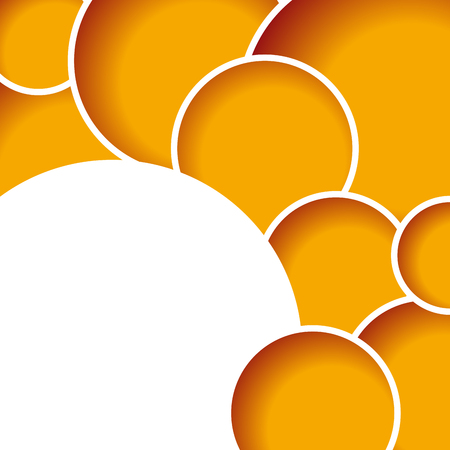 gratings: Geometric abstract orange circles, vector background