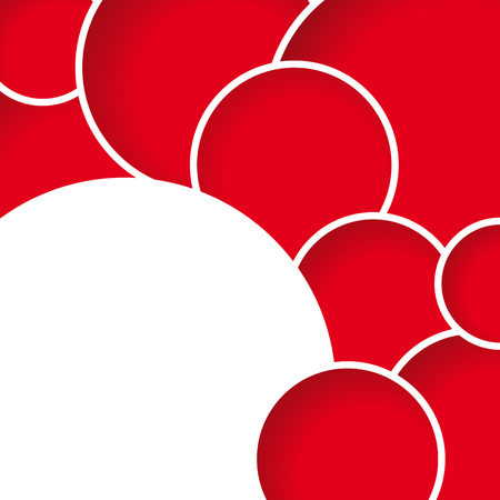 gratings: Geometric abstract red circles, vector background