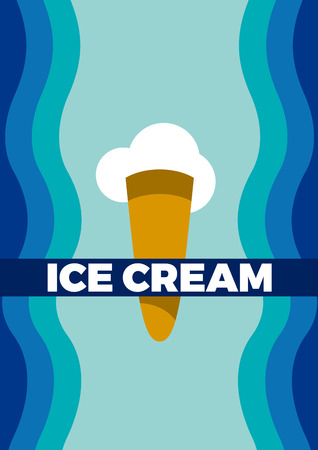 Vector abstract vintage ice cream, background for poster or cover.