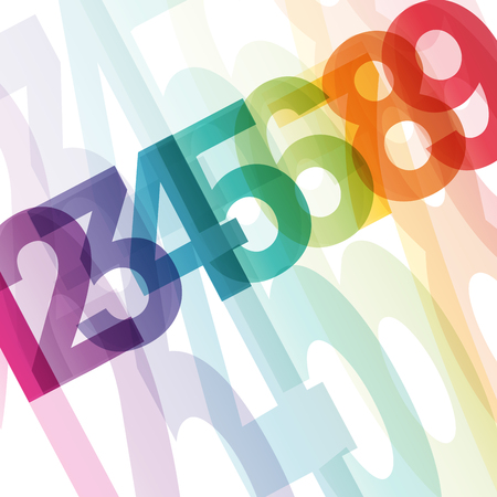 Abstract ordered numbers, vector background. Option and motivation concept