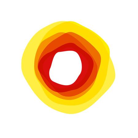 vector abstract sign sun. Summer concept