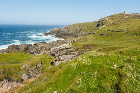 Landscapes von Irland. Malin Kopf in Donegal Standard-Bild - 82874428