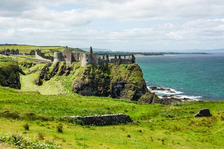 Landascapes of Ireland. Dunluce castle, Northern Ireland