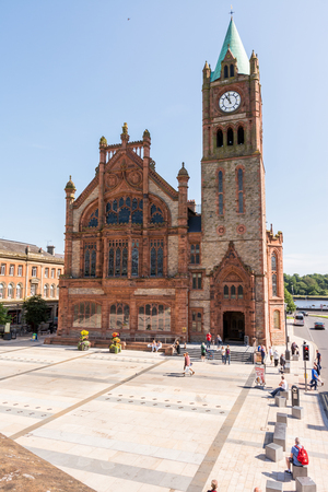 old town guildhall: The Guildhall in Derry, Northern Ireland