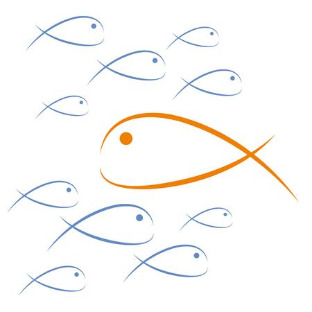 反流を魚します。チャレンジ ・ アブド ・自由ベクトル図概念