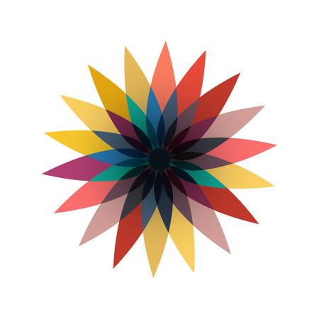 Vector sign flower autumn, abstract shape Ilustrace