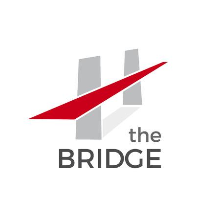 Vector abstract bridge, verbinding concept