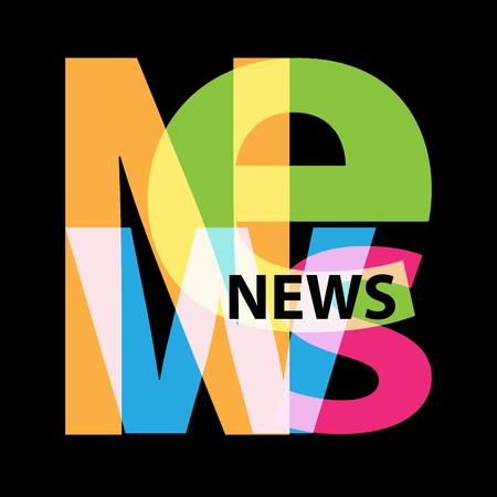 journalism: Vector News. Broken text