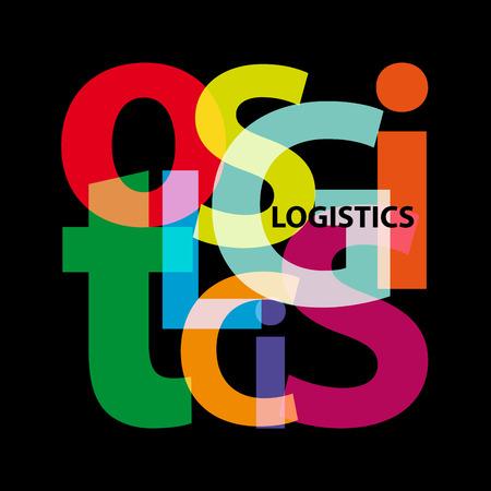 Logistique vectorielle. texte brisé Banque d'images - 87427119