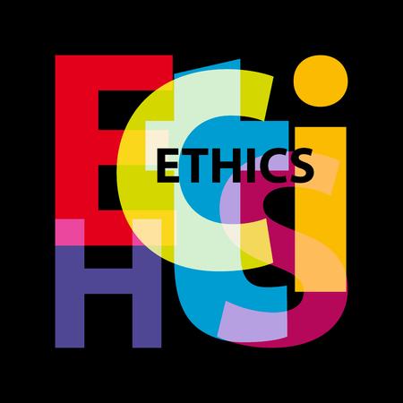 Ética del vector Texto roto