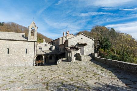 Sanctuary of La Verna in tuscany, italy. Monastery of St. Francis