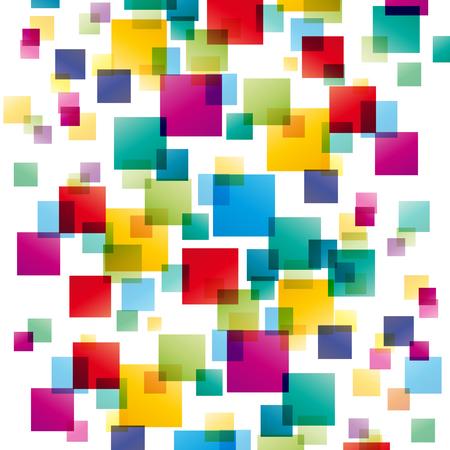 Vectorconcept netwerk, witte achtergrond Stock Illustratie