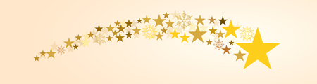White festive christmas banner background with comet.