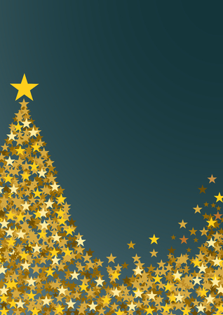 festive vertical christmas background with copy space golden