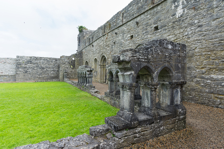 Landscapes of Ireland. Cong abbey in Galway county