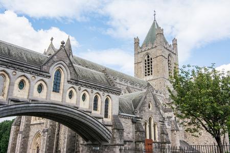 Travel in Ireland. Dublin, Christ Church Cathedral Foto de archivo