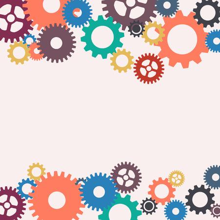 Vector abstract gears background Stock Illustratie
