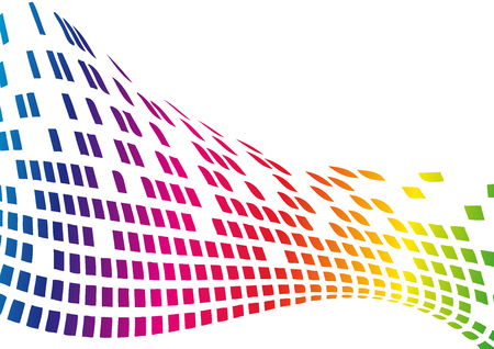 Digital Abstract Vector Background with rainbow pixel Illustration