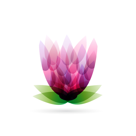 Vector abstract purple flower. Spa and relax concept Ilustrace