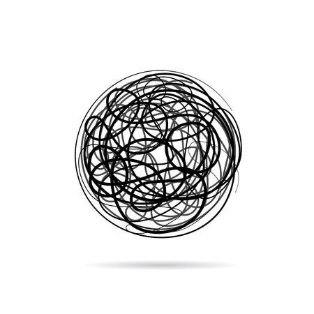 Vector sign scribble of a wool clew