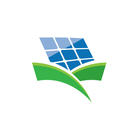 Vector sign solar panel, green energy and renewable  向量圖像