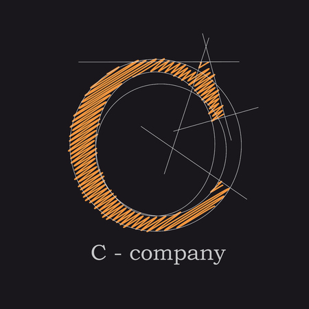 Vector icon design letter C Illustration