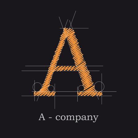 Vector icon design letter A