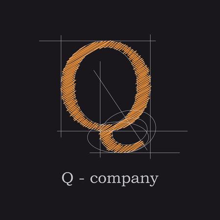 Vector icon design letter Q