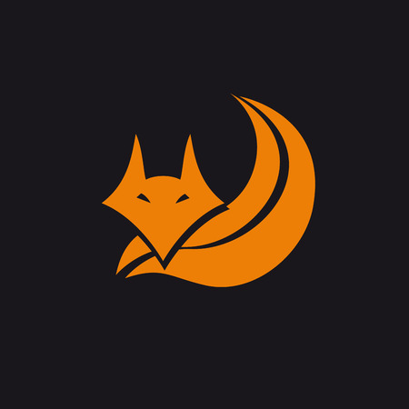 Vector abstract fox. Concept of cunning