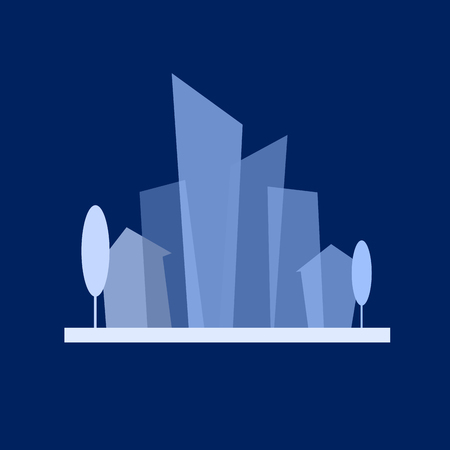 Vector sign flat city Illustration
