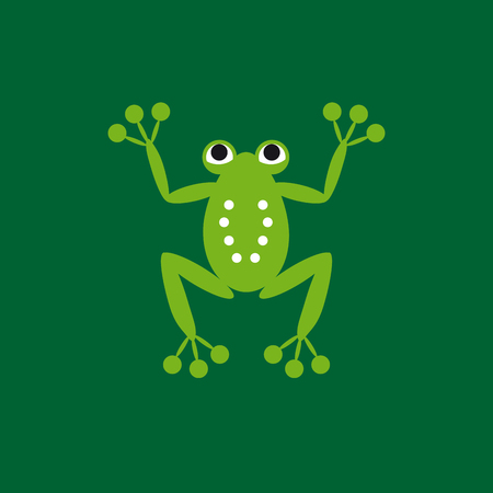 Vector sign frog company