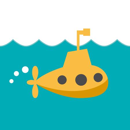 Vector teken vrolijke onderzeeër Vector Illustratie