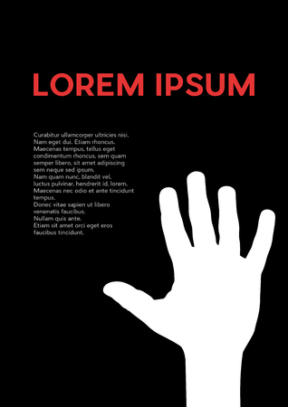 Hand, help and solidarity concept.Creative vector background for poster, cover book or flyer.