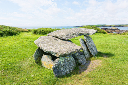 Landscapes of Ireland. Altar Wedge Tomb 写真素材