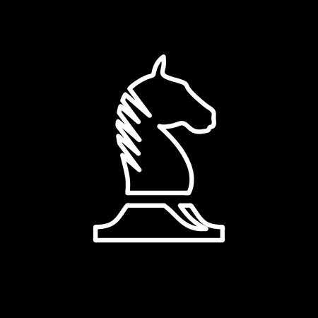 Vector sign horse of chess