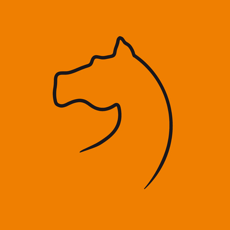Vector sign horse in flat design