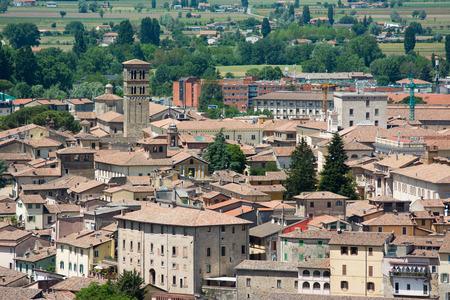 Rieti city, in Lazio, Italy. Cityscape, view from above