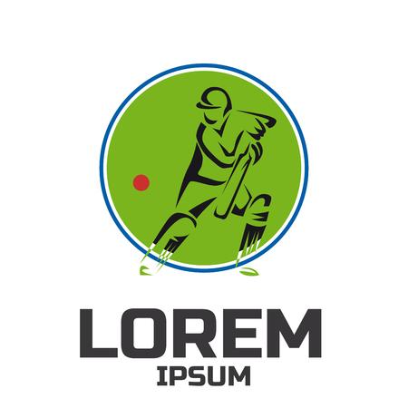 Cricket sport vector logo design template 向量圖像