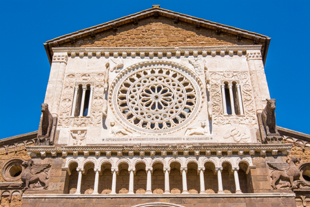 Tuscania, Viterbo, Italy: Exterior of San Pietro Church Stock Photo
