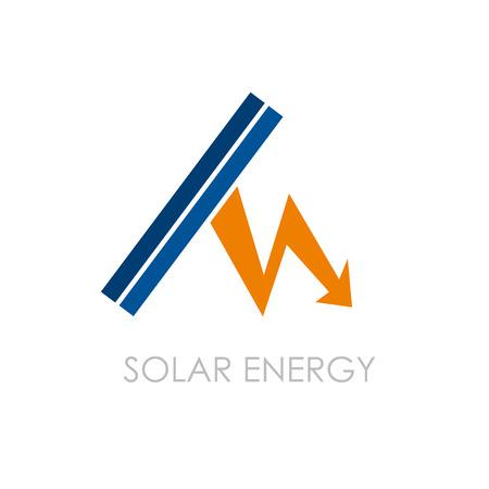 Vector logo Solar Energy Stock Illustratie