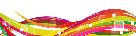 Vector banner background network, communication and connectivity. Illustration