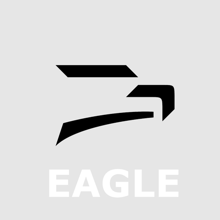 Vector logo of a eagle, in simple geometric shape